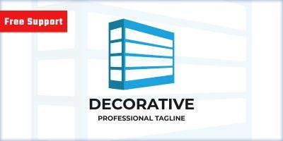 Decorative Letter D Logo