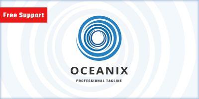 Oceanix Letter O Logo