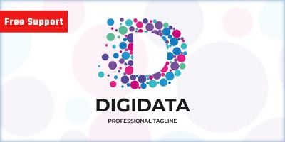 Digital Data Letter D Logo