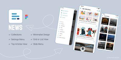 News App - Figma Mobile Application UI Kit