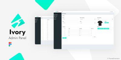 Ivory Admin - Figma Admin Website UI Kit