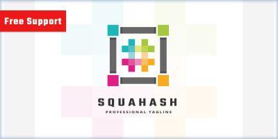Square Hashtag Logo