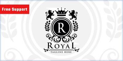 Royal Crest Letter R Logo