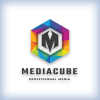 Media Cube Letter M Pro Logo