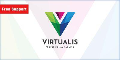 Virtualis Letter V Logo