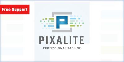 Pixalite Letter P Logo