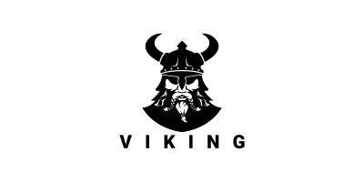 Viking Warrior Vector Logo
