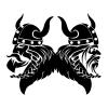 Viking Fighter Vector Logo Design