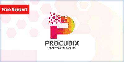 Cubes P Letter Logo