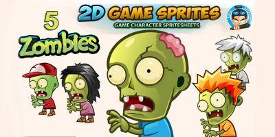 5 Zombies Sprites