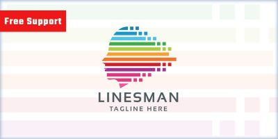 Lines Man Logo