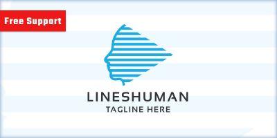 Lines Human Logo