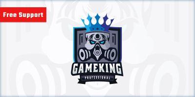 Skull Gamer King Logo