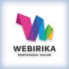 Web Colorful Folded Letter W Logo