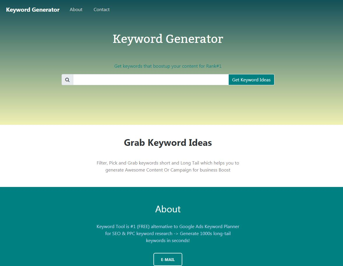 Keyword Generator With Admin PHP Script Screenshot 5