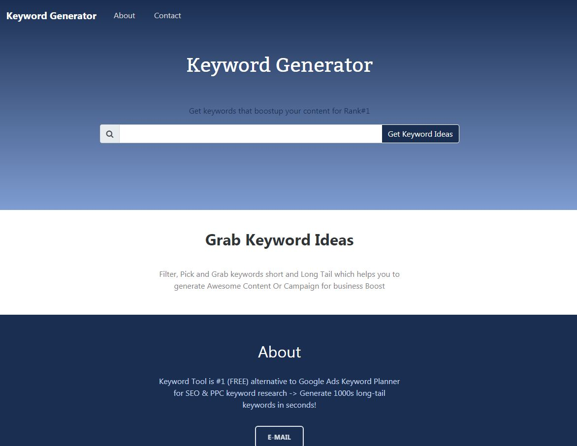 Keyword Generator With Admin PHP Script Screenshot 6