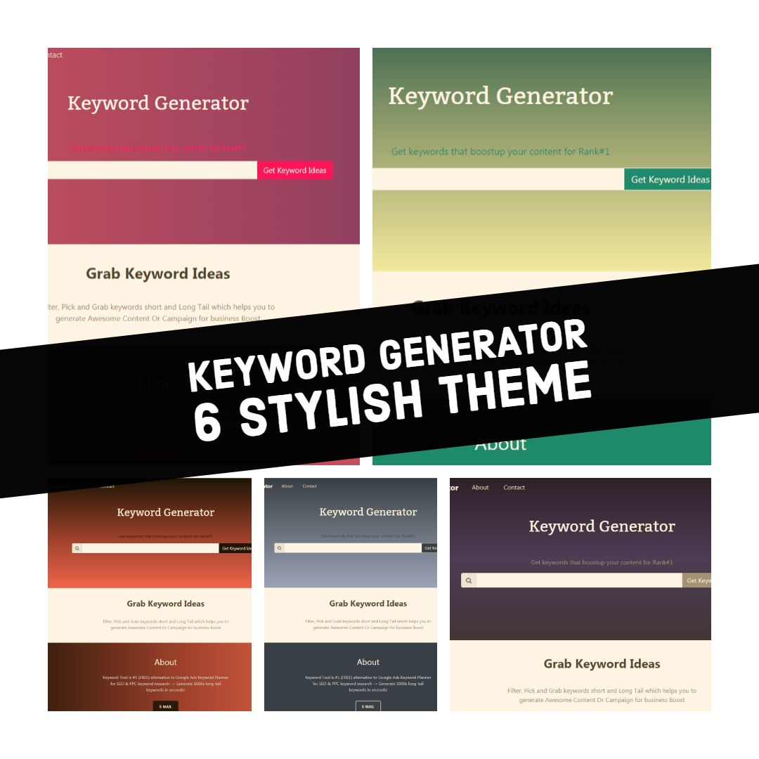 Keyword Generator With Admin PHP Script Screenshot 7