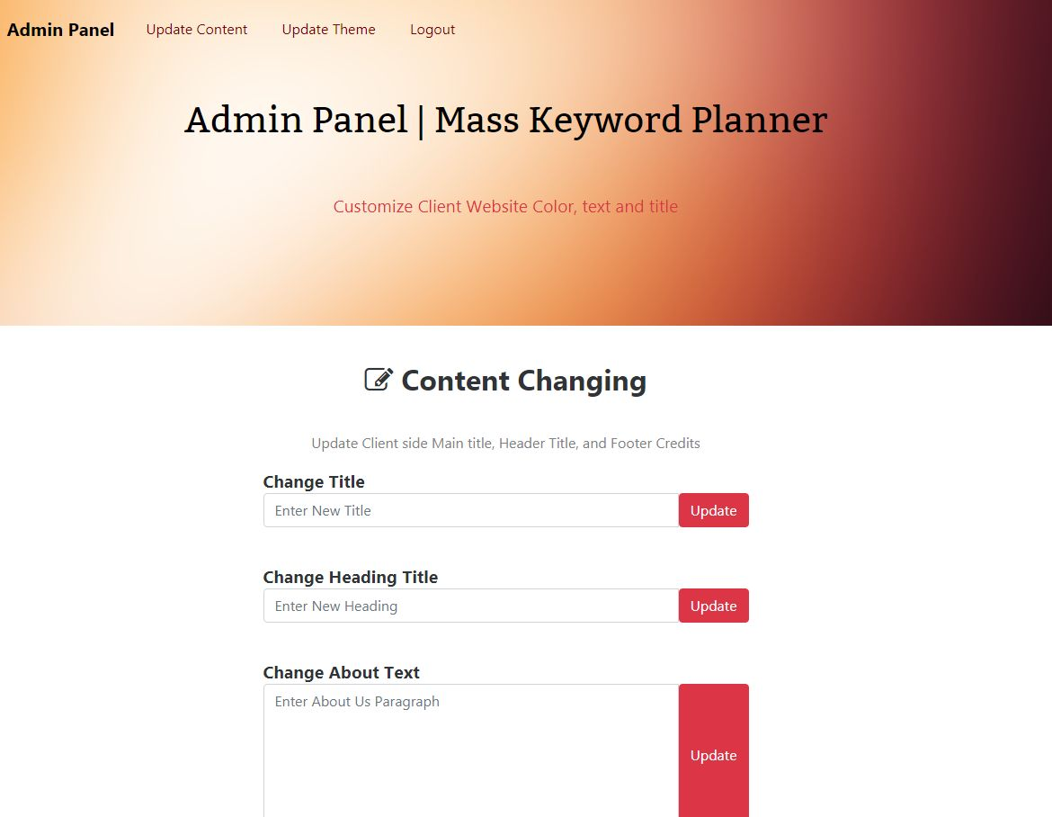 Keyword Generator With Admin PHP Script Screenshot 8