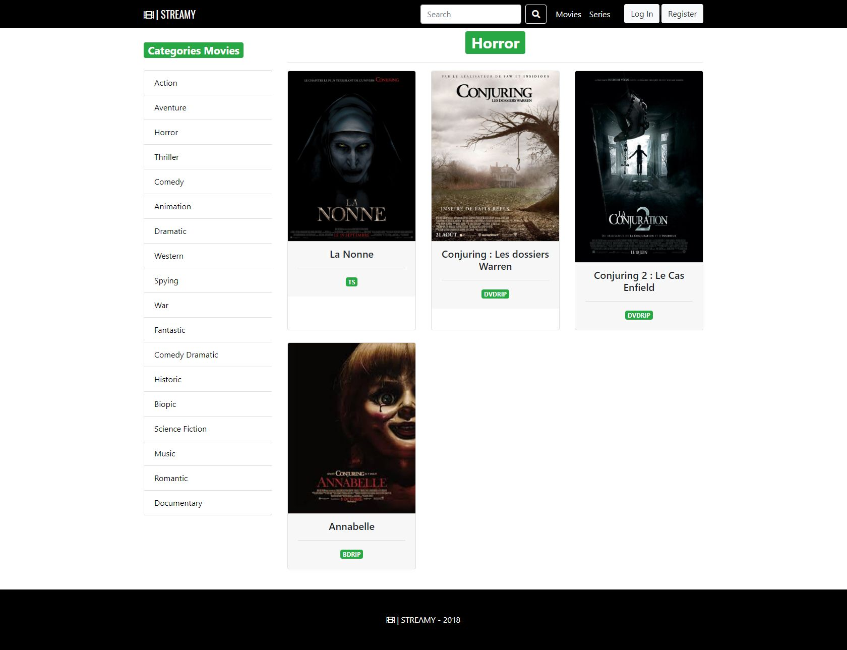 Streamy - Movies And Series Streaming Platform PHP Screenshot 12