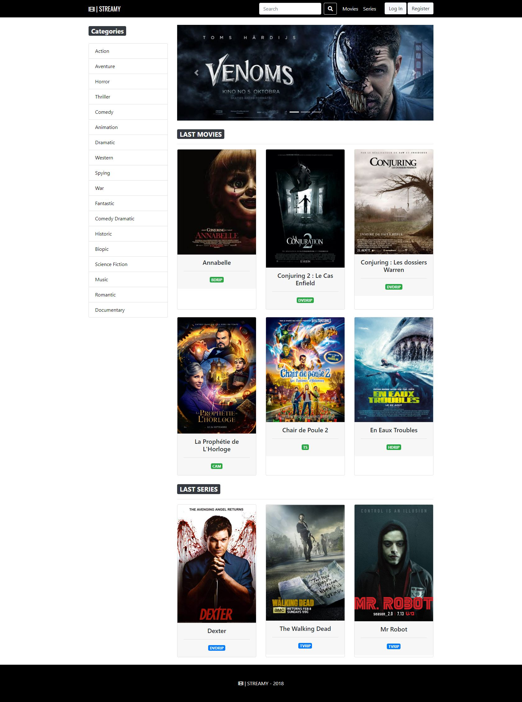 Streamy - Movies And Series Streaming Platform PHP Screenshot 13