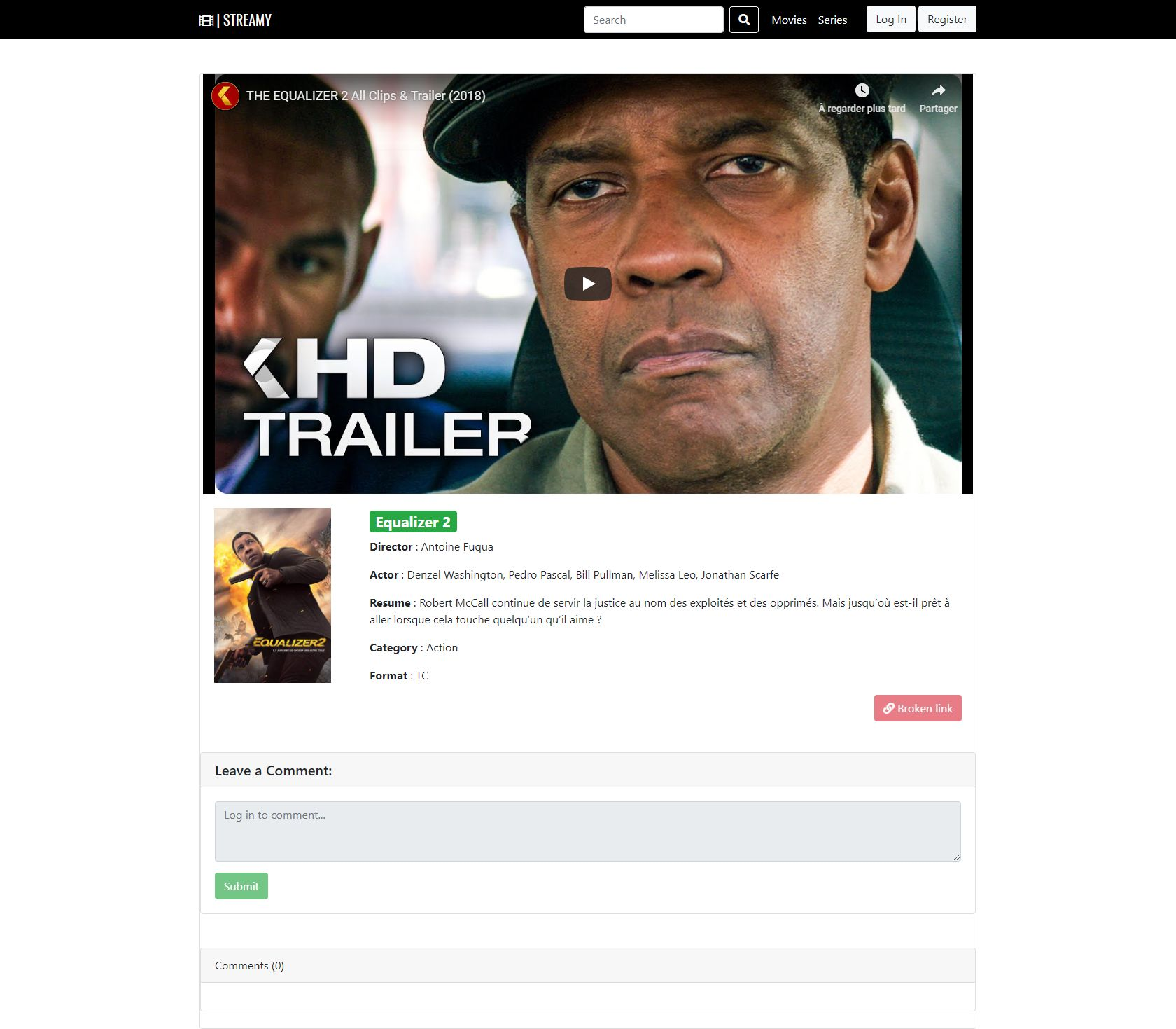 Streamy - Movies And Series Streaming Platform PHP Screenshot 16