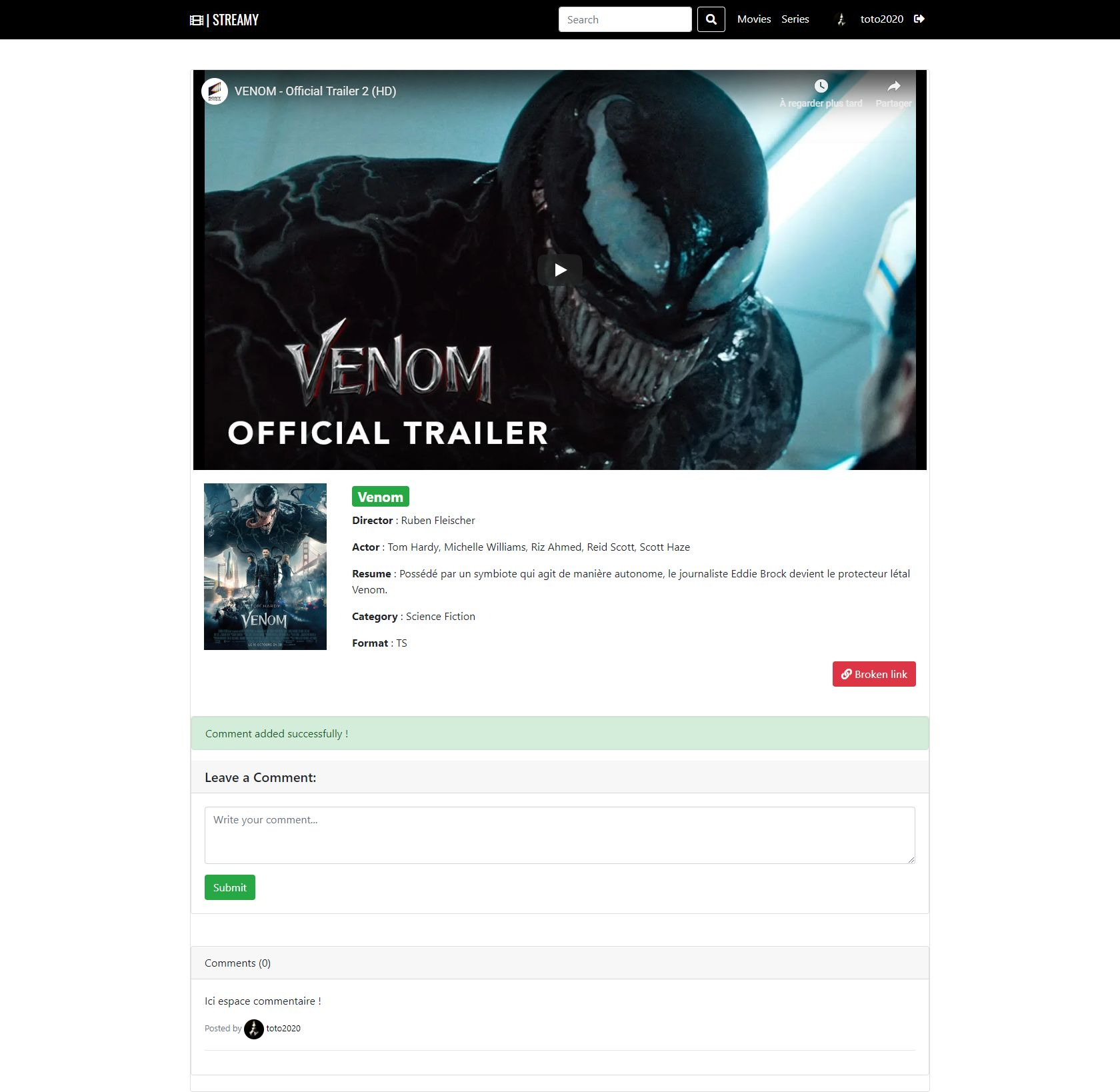 Streamy - Movies And Series Streaming Platform PHP Screenshot 17