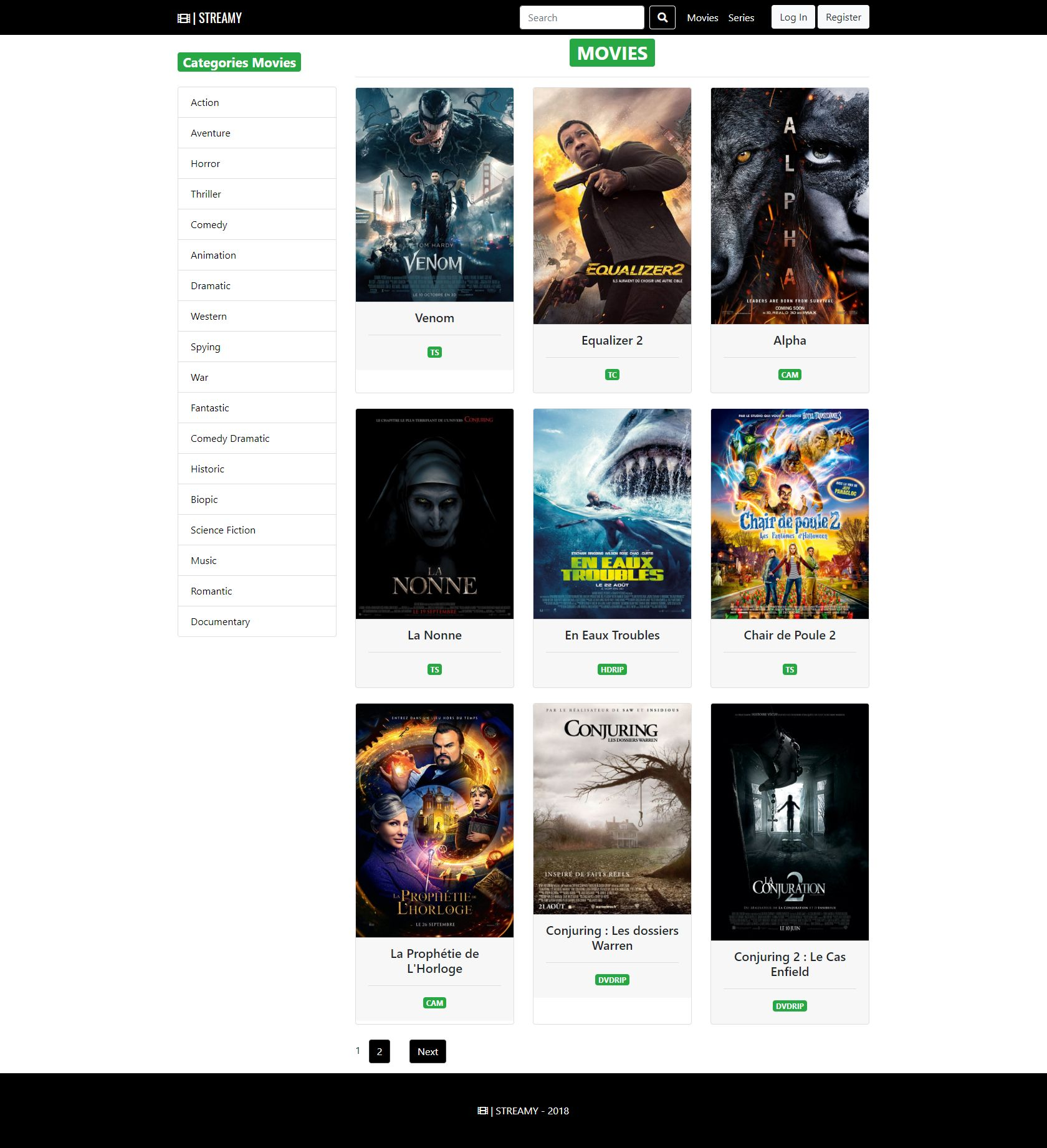 Streamy - Movies And Series Streaming Platform PHP Screenshot 18