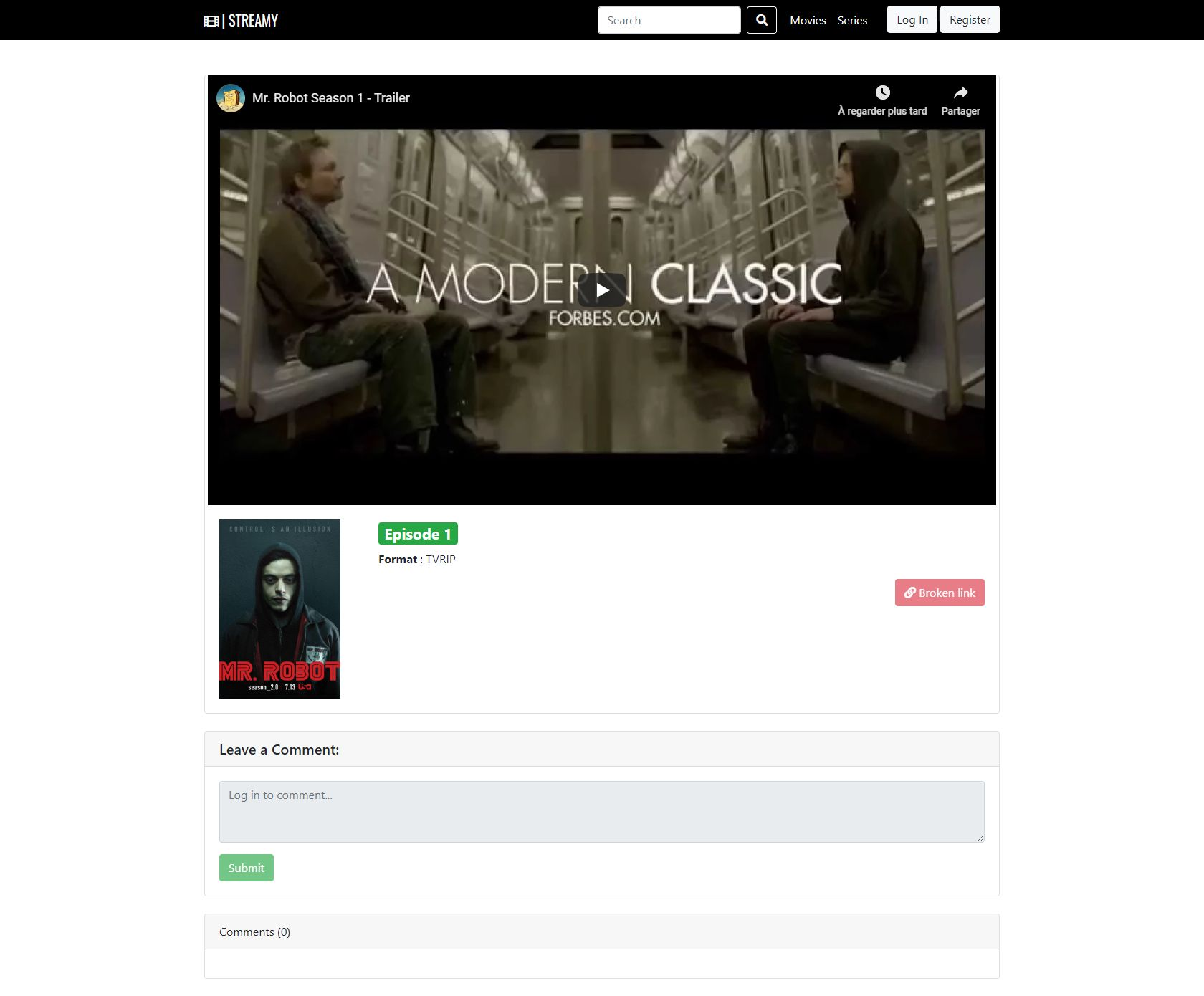 Streamy - Movies And Series Streaming Platform PHP Screenshot 21