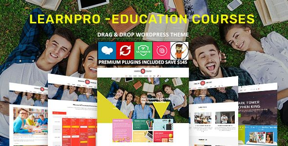Learnpro - Education WordPress Theme Screenshot 1