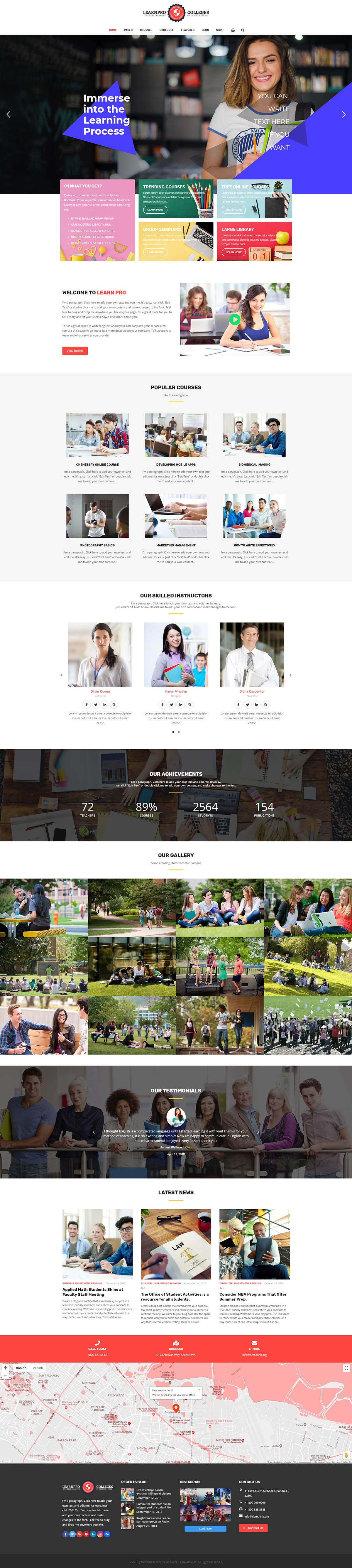 Learnpro - Education WordPress Theme Screenshot 2