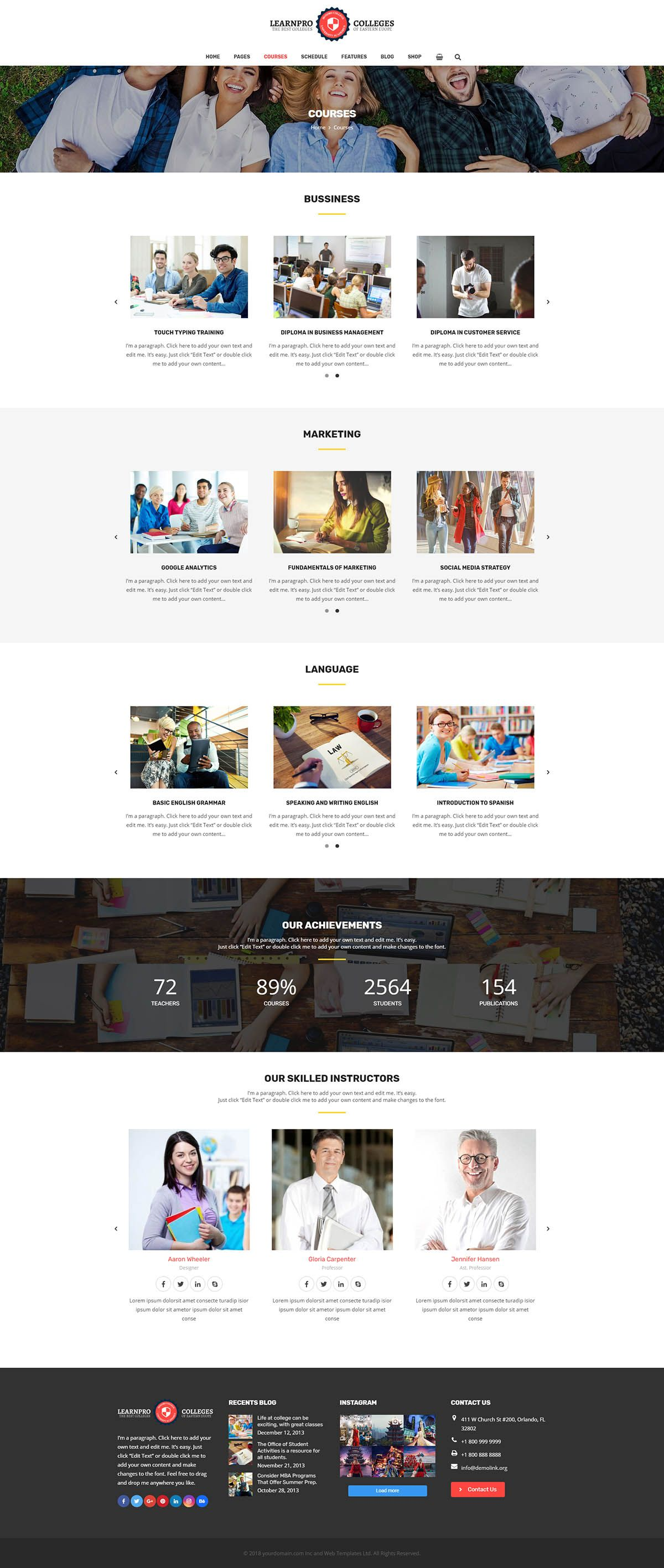 Learnpro - Education WordPress Theme Screenshot 3