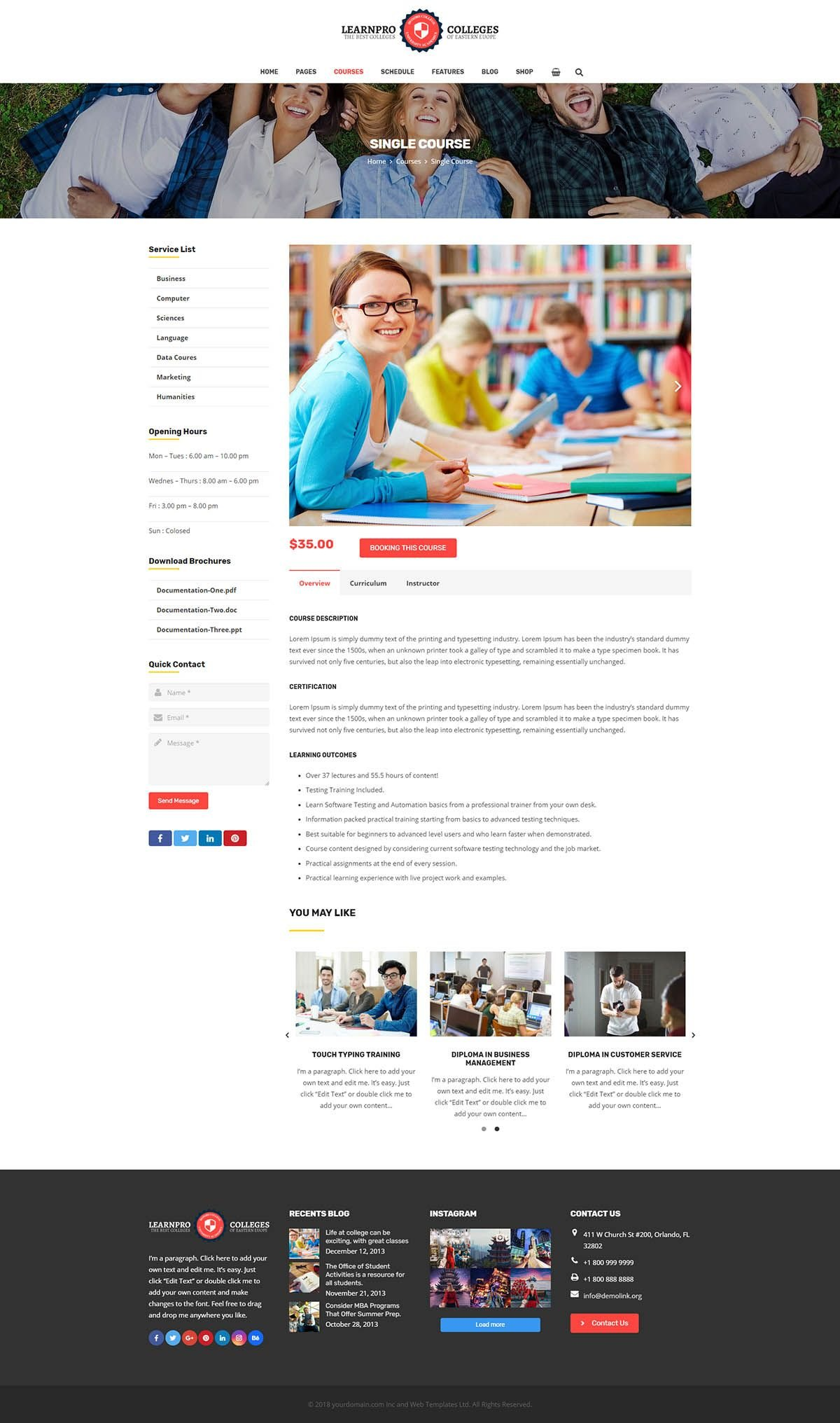 Learnpro - Education WordPress Theme Screenshot 4