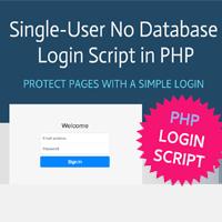 PHP Single-User No Database Login Script