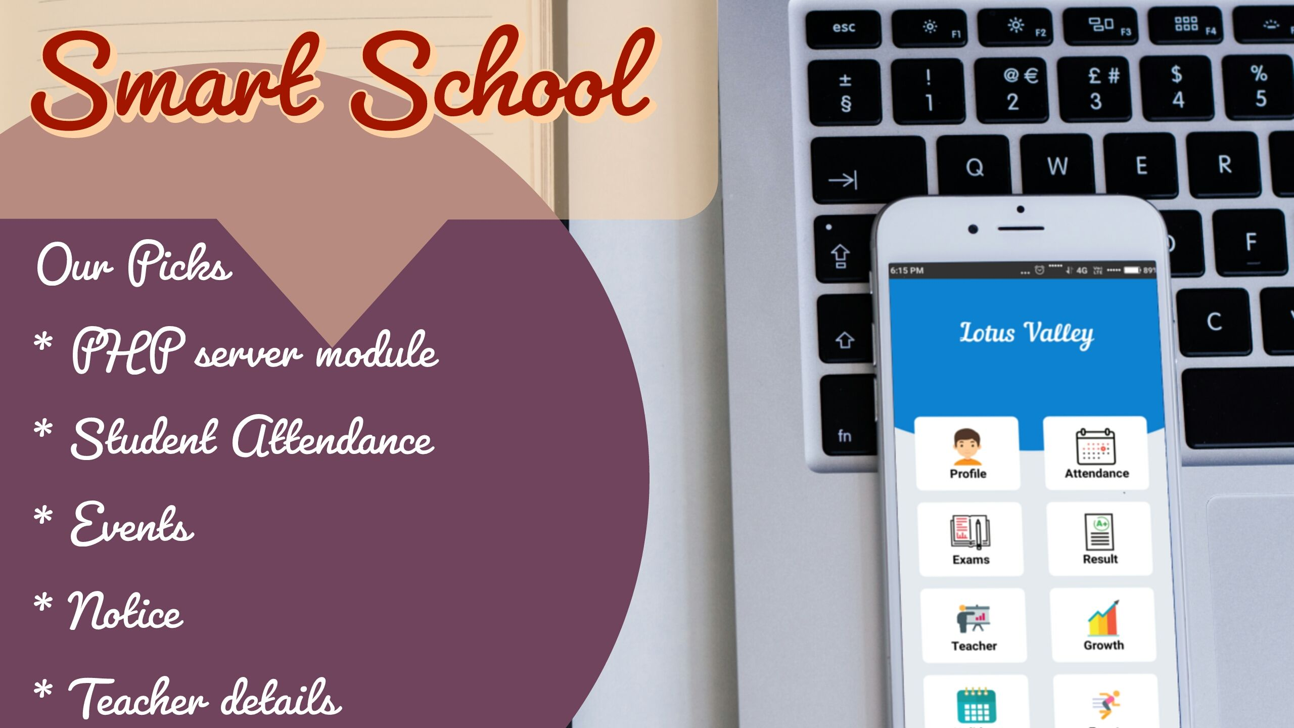 School Management System - Android Source Code Screenshot 1