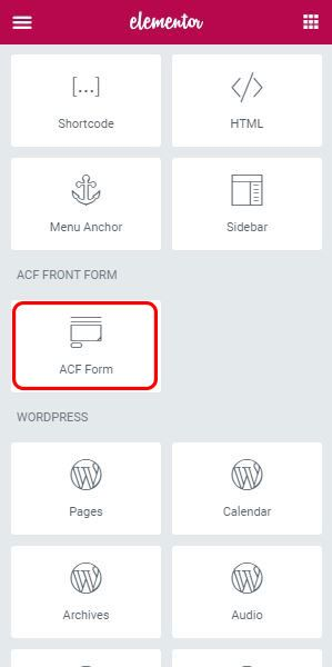 ACF Front Form For Elementor Screenshot 2