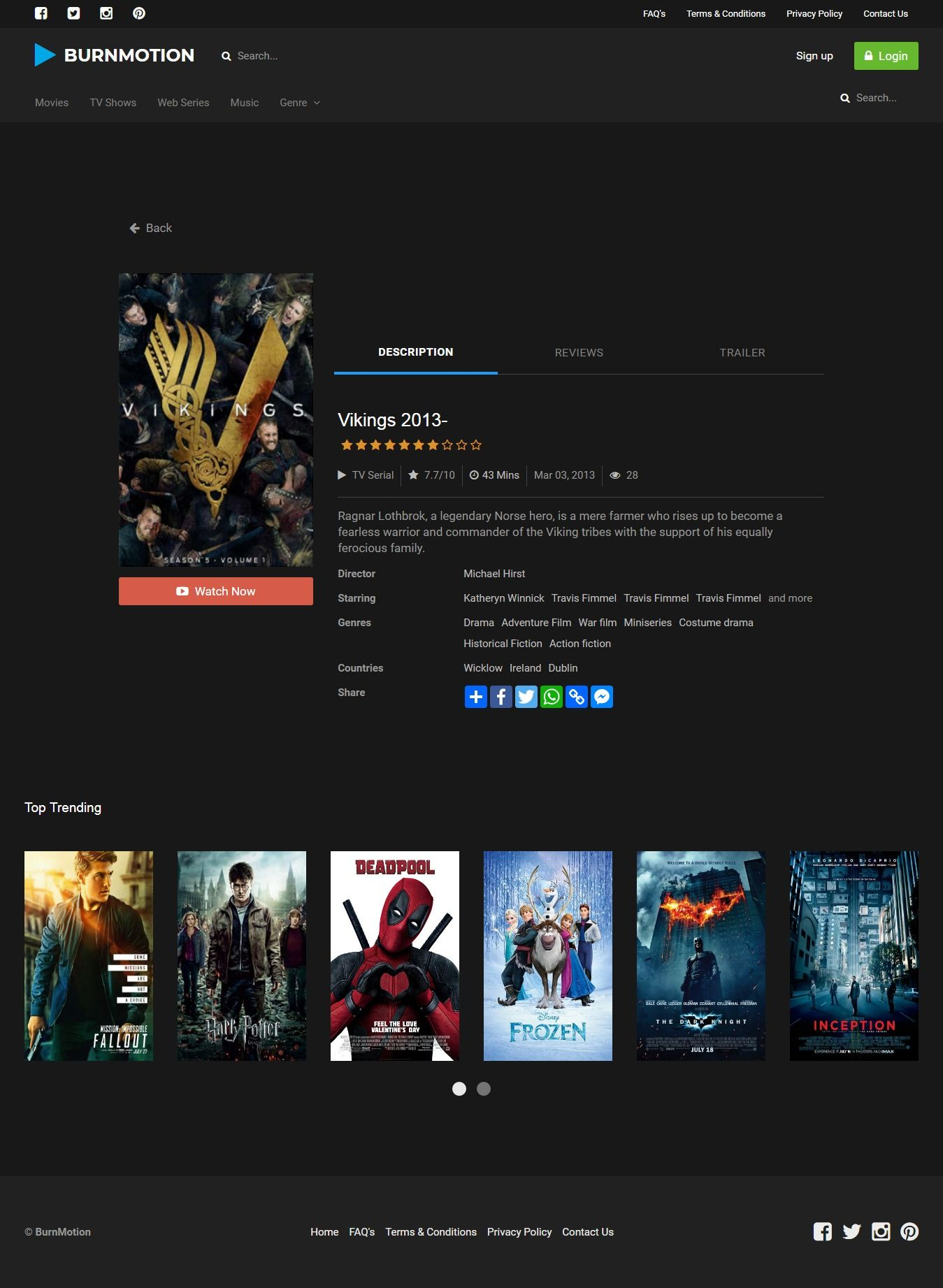 BurnMotion - Movies And TV Database PHP Screenshot 16