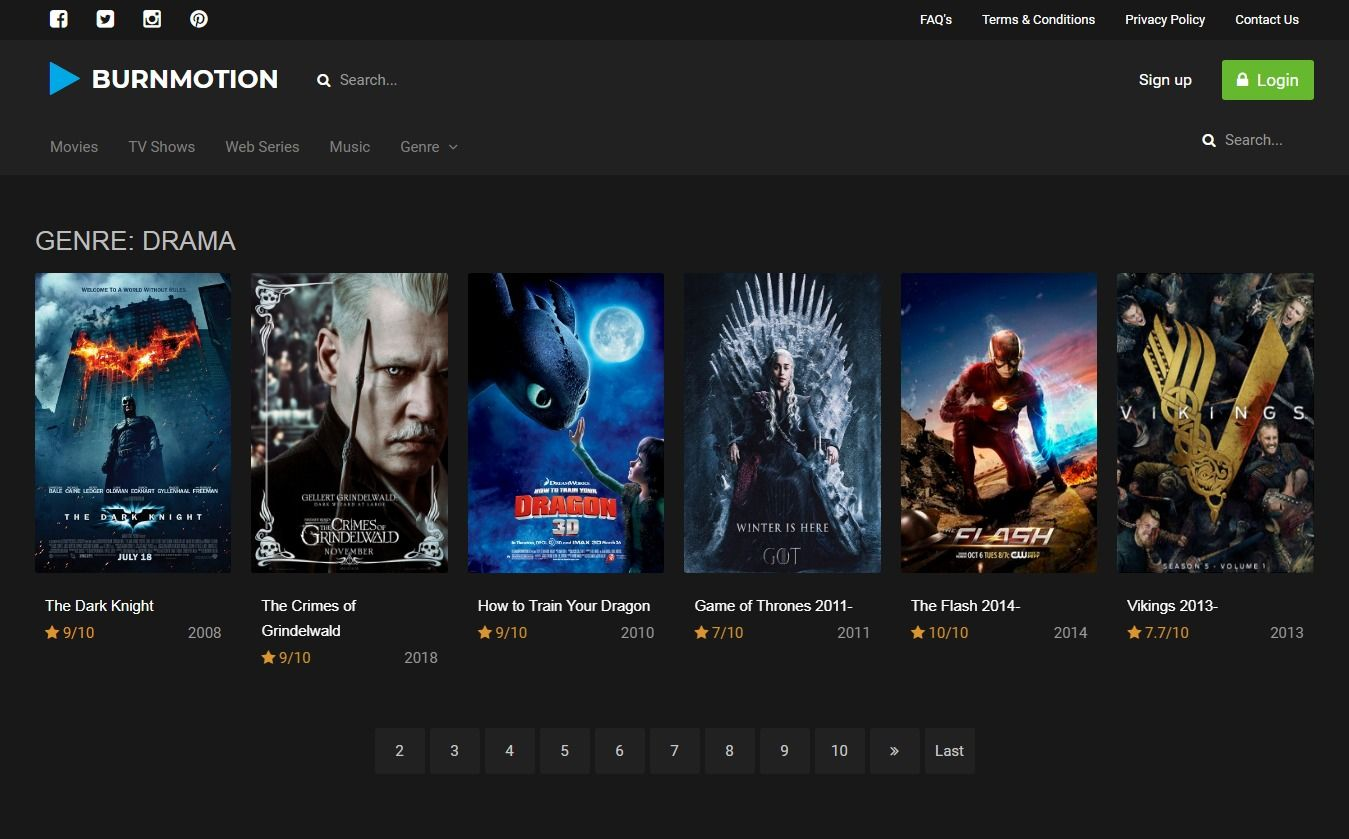 BurnMotion - Movies And TV Database PHP Screenshot 20