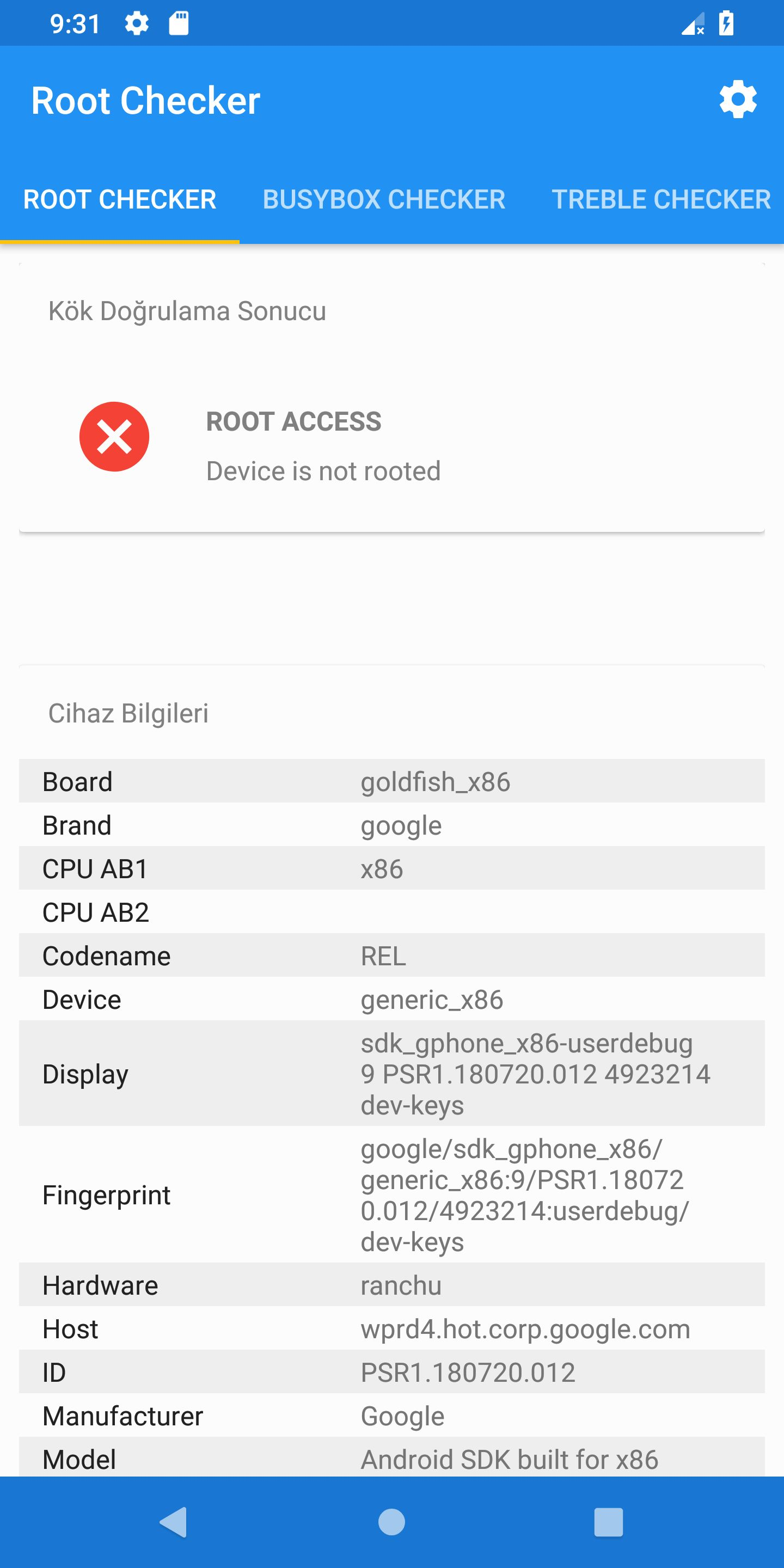 Root Checker - Android Source Code Screenshot 2
