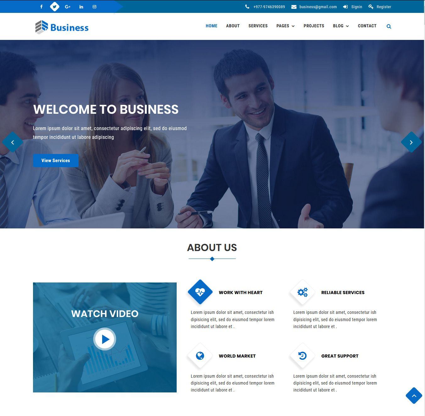 Business - Multipurpose Corporate HTML Template  Screenshot 2
