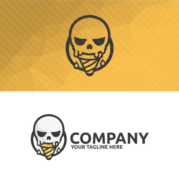 Skull Ice Cream Logo Screenshot 2