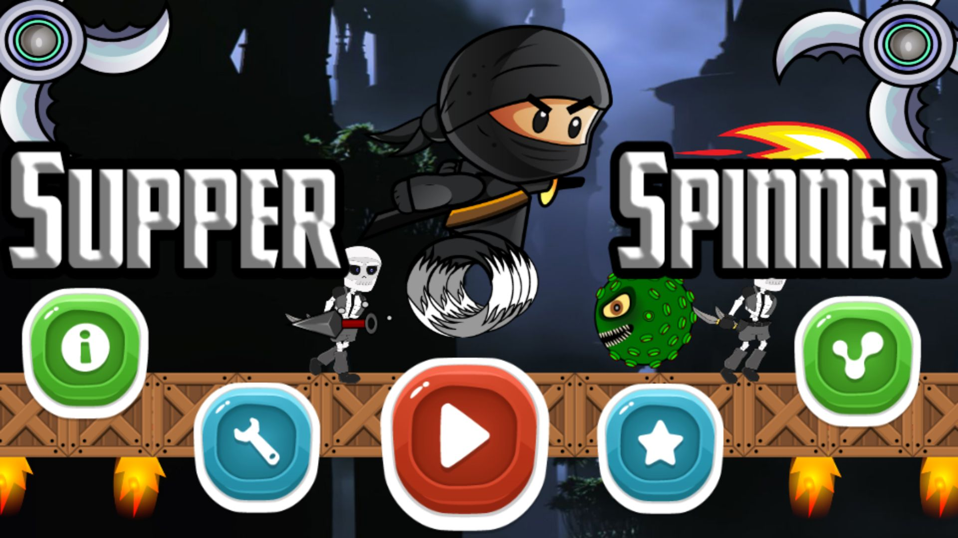 Super Ninja Spinner - Buildbox Template Screenshot 1