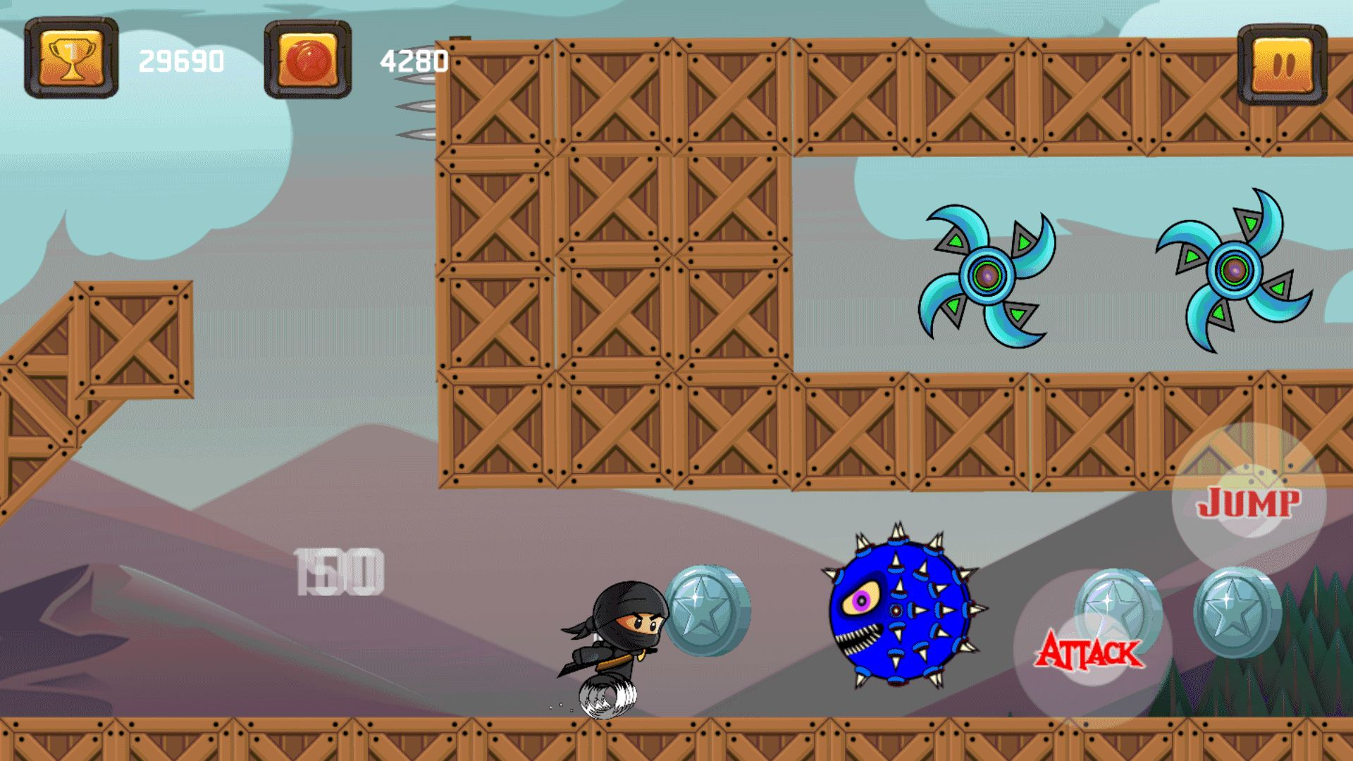 Super Ninja Spinner - Buildbox Template Screenshot 5
