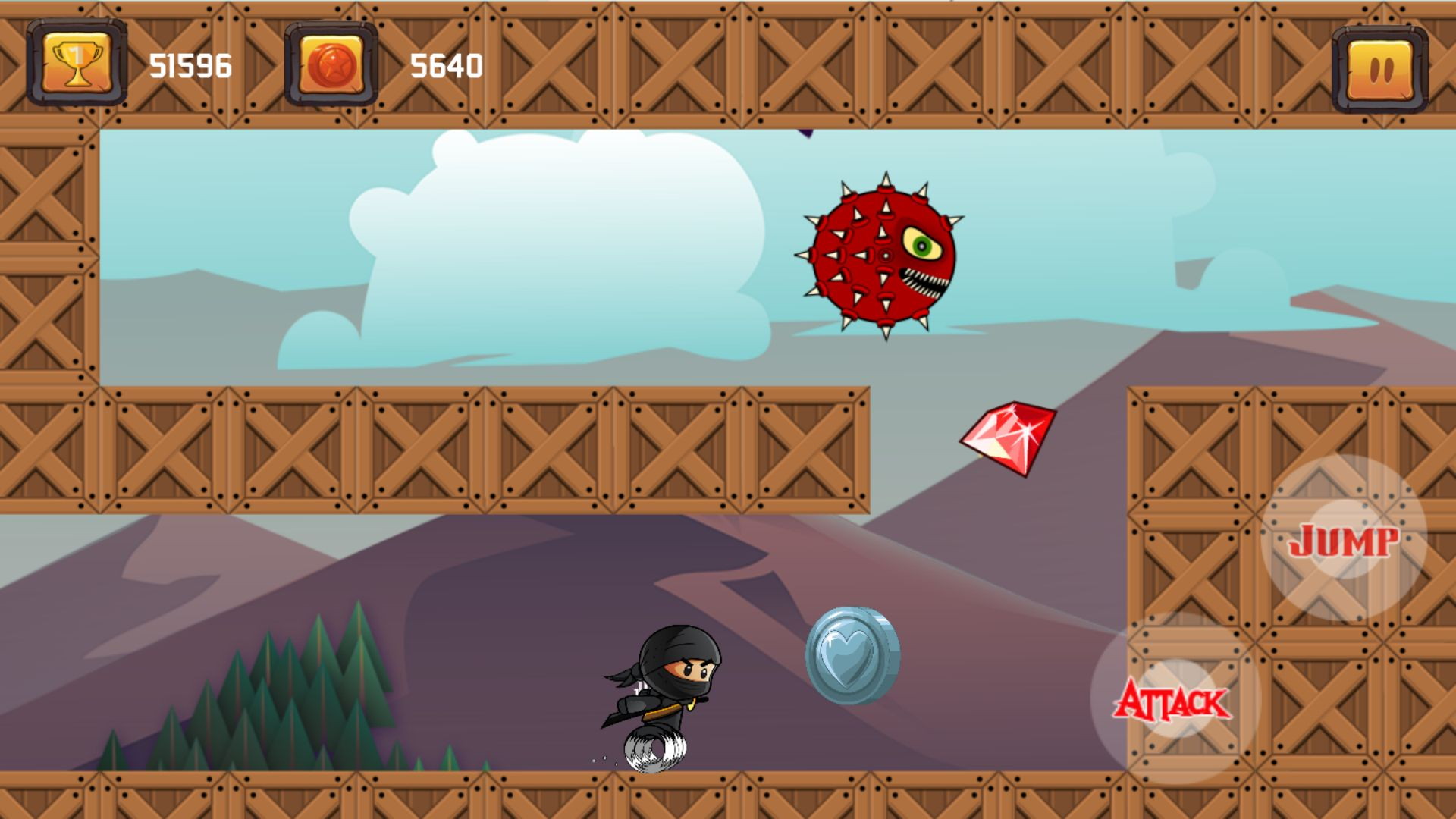 Super Ninja Spinner - Buildbox Template Screenshot 7