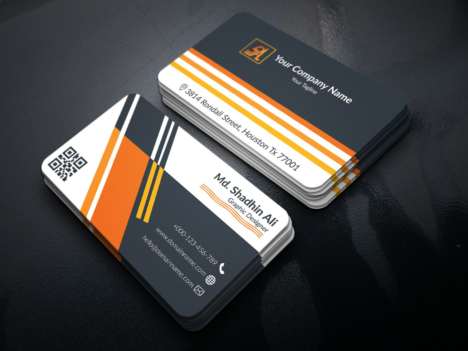 Corporate Business Card Screenshot 2