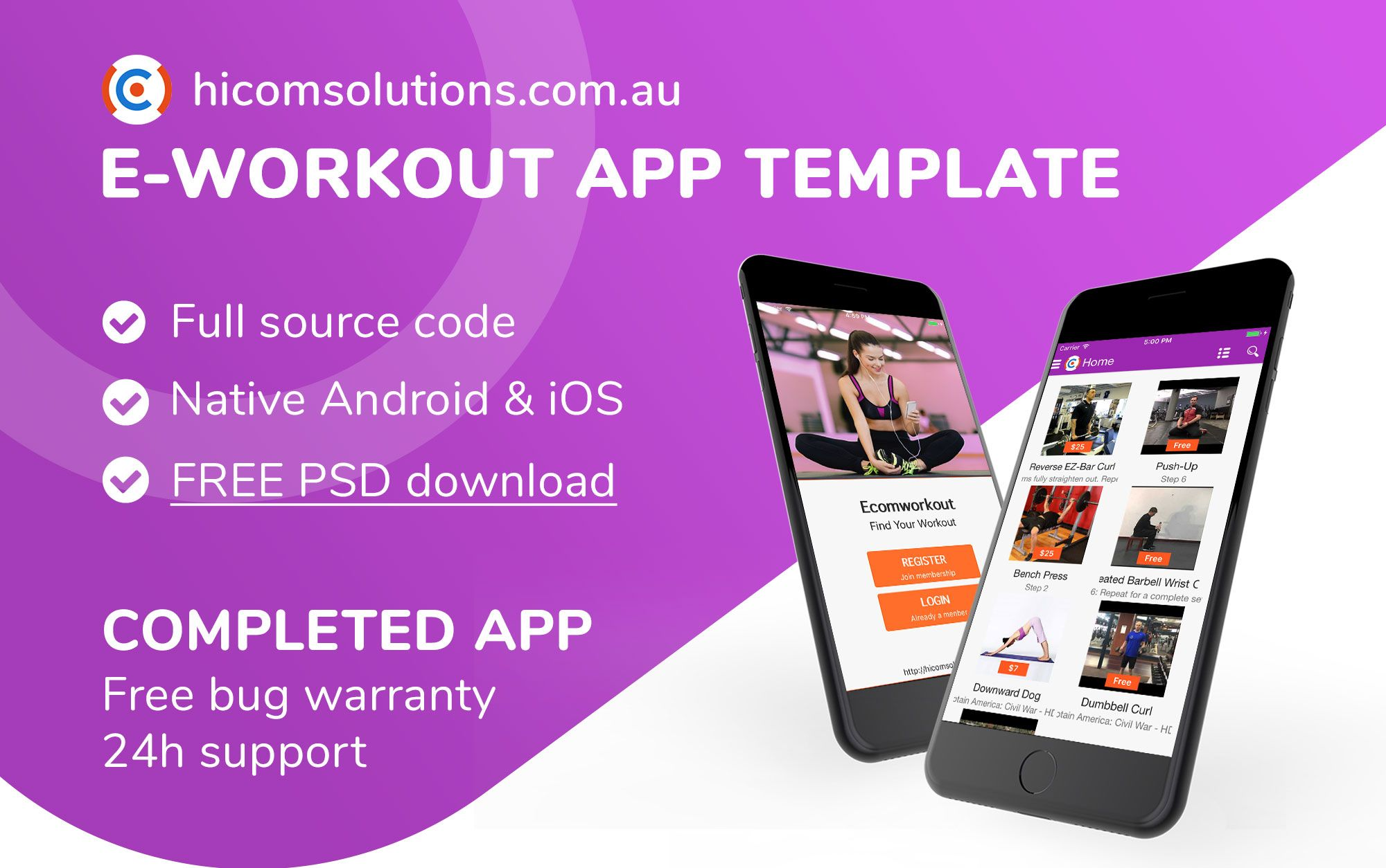 E-Workout - Sell Your Online Workout iOS App Screenshot 1