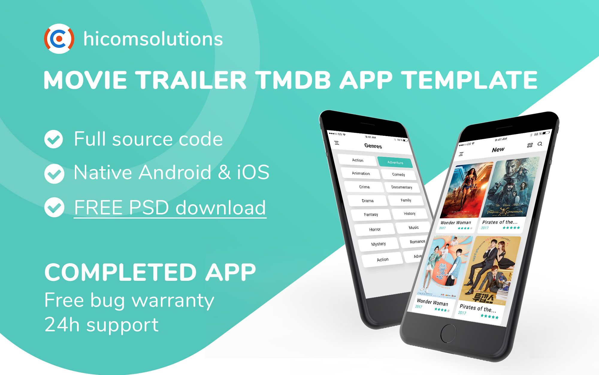 Movie Trailer TMDb iOS App Template Screenshot 1