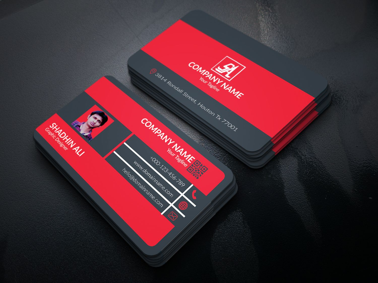 Corporate Business Card Screenshot 3