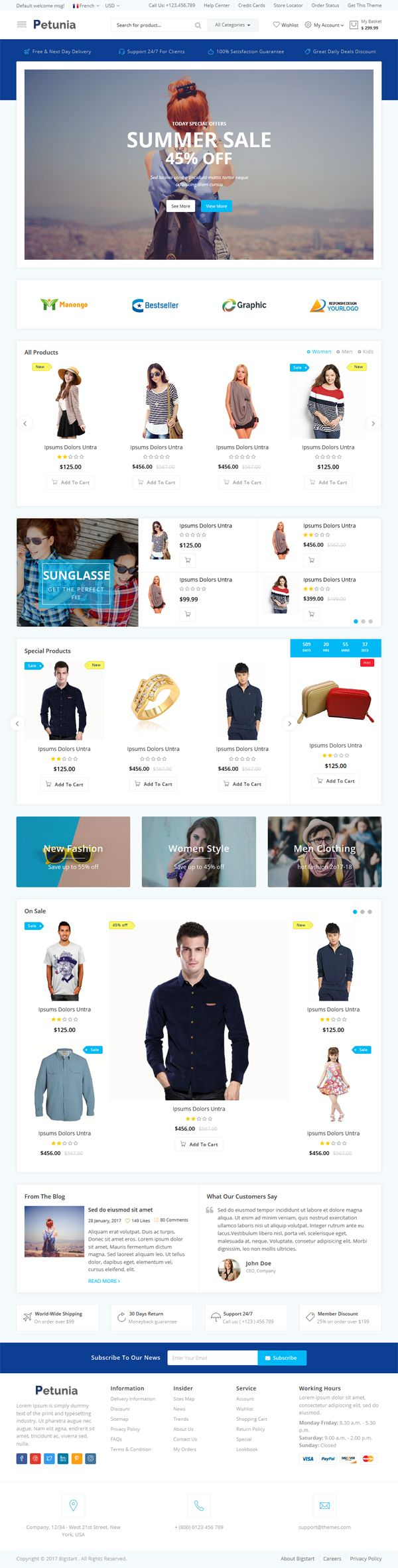 Petunia -Fashion Store Website Template Screenshot 2