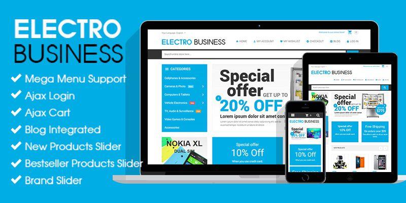 Electronics Business - Responsive Magento Theme