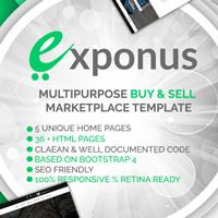 Exponus - Digital Marketplace Template